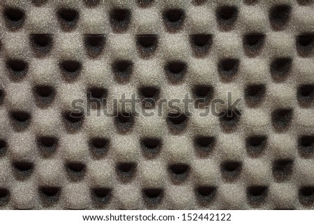 Beautiful Black Foam Texture Background - stock photo