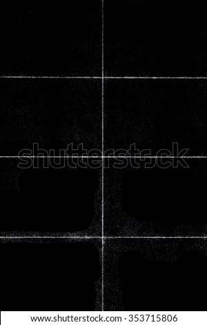 Beautiful Black grunge folded texture. Folded paper background with scratches and dust. Old folded paper texture for your design. - stock photo