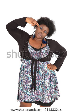 Beautiful black woman doing different expressions in different sets of clothes: committing suicide