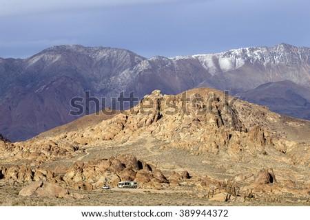 Beautiful BLM lands in Alabama Hills, California - stock photo