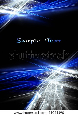 Beautiful blue and white fractal background - stock photo