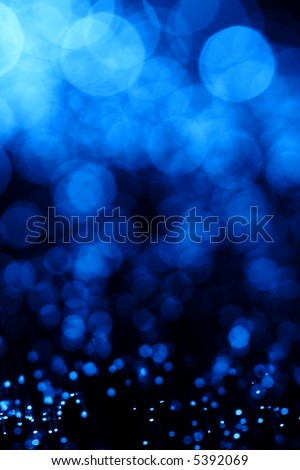 Beautiful blue fiber optic abstract background