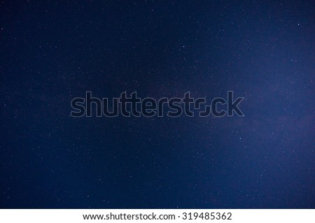 Beautiful blue night sky full of stars