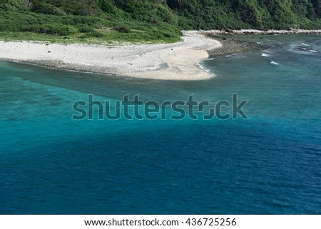 Beautiful blue ocean and beach Okinawa, Aka island,Japan - stock photo