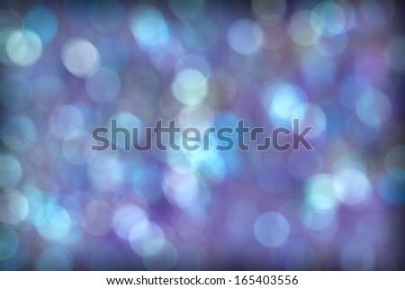 Beautiful Blue Purple Aqua Abstract Bokeh Background - stock photo