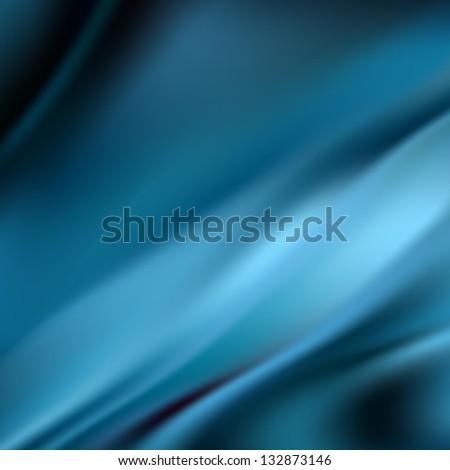 Beautiful blue satin. Drapery background - stock photo