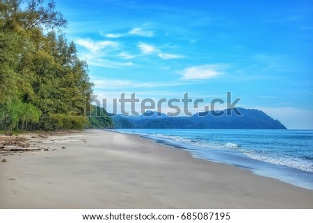 Beautiful Blue Sea Tropical Maldive Romantc Paradise Island Dream Destination Using As A Background