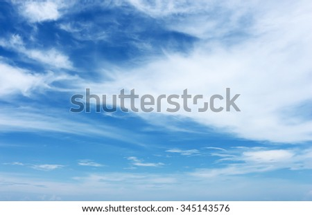 Beautiful blue sky and white cloud.
