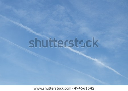 beautiful blue sky background with cloudy. the line