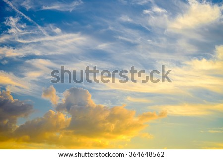 Beautiful blue sky with clouds can be used for background
