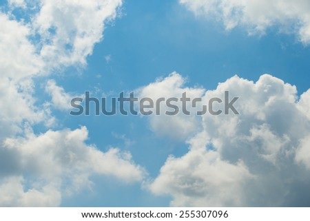 Beautiful Blue sky with clouds, for a background - stock photo