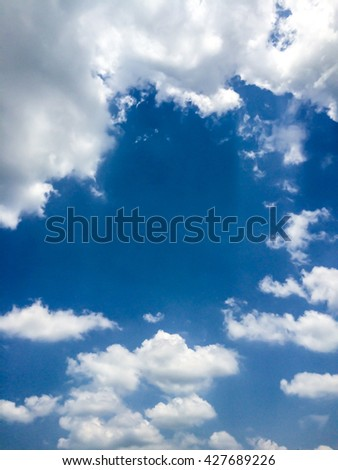 Beautiful blue sky with cloudy look like heaven. - stock photo