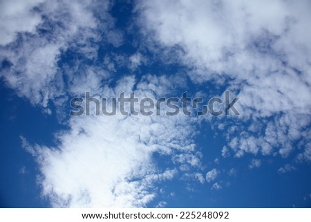 Beautiful blue sky with white clouds - stock photo