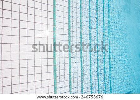beautiful blue swimming pool - stock photo