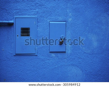 Beautiful blue wall texture