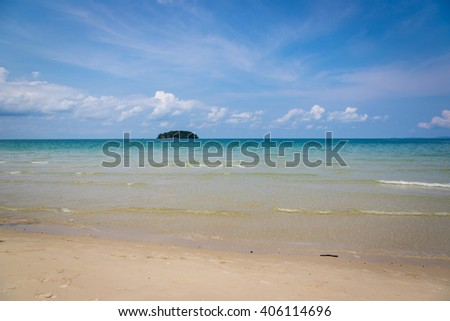Beautiful blue water sea in south Cambodia, southeast Asia.