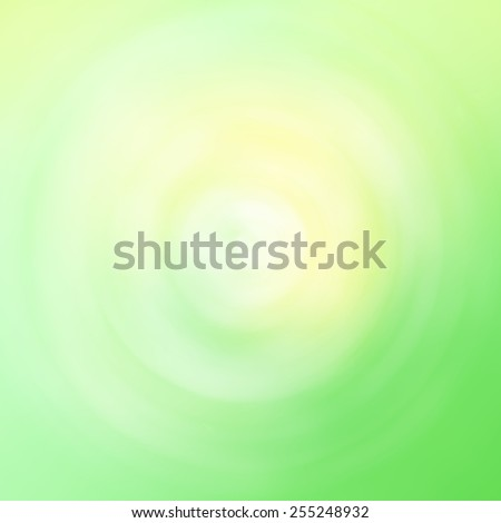 Beautiful blurry yellow and green easter bokeh abstract light illustration background. Radial blur filter used. - stock photo