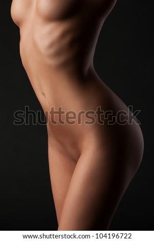 Beautiful body image of a nude beautiful girl - stock photo