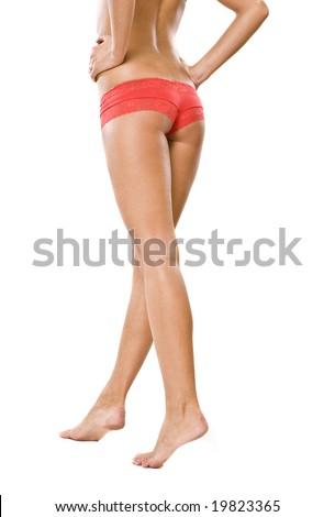 Beautiful body isolated on white - stock photo