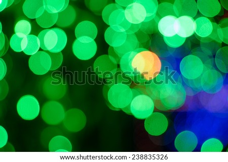Beautiful bokeh background light from the lamp in festivals.
