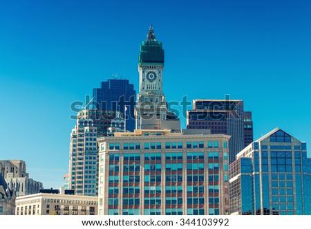 Beautiful Boston skyline, Massachusetts. - stock photo