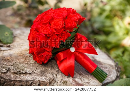 Beautiful bouquet for celebration and wedding - stock photo