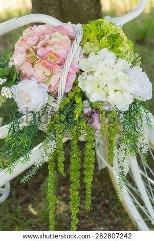 Beautiful bouquet of flowers ready for the big wedding ceremony. Wedding Bouquet - stock photo