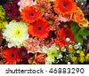 Beautiful bouquet of fresh and colorful flowers - stock photo