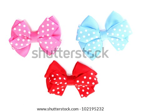 beautiful bows isolated on white