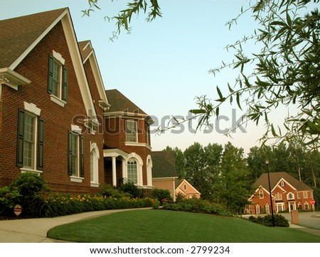 Beautiful Brick House - Exterior - stock photo