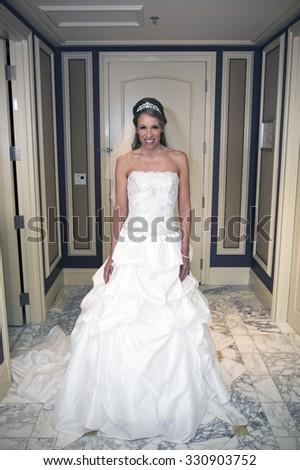 Beautiful bridal portrait - stock photo