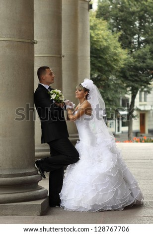 beautiful bride and groom