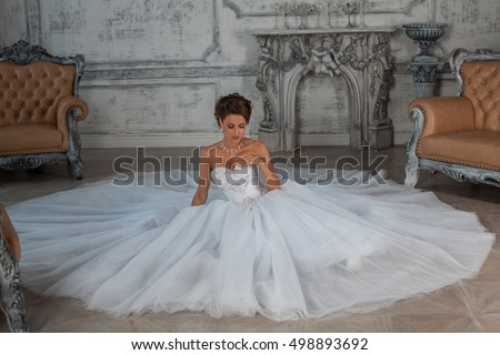 Beautiful Bride Wedding Dress Wedding Dress Stock Photo 498893692 ...