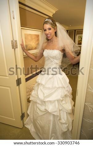 Beautiful bride portrait - stock photo