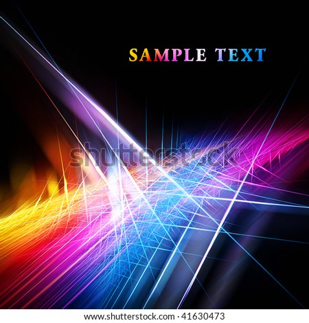 Beautiful bright fractal template - stock photo