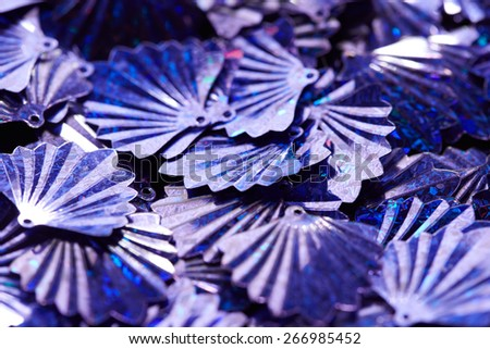 Beautiful bright sequins - stock photo