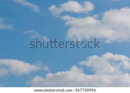 Beautiful bright sky blue background. - stock photo