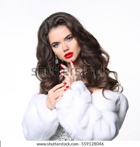 Woman Fur Coat Stock Images, Royalty-Free Images & Vectors ...