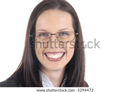 Beautiful business lady with a happy, welcoming smile