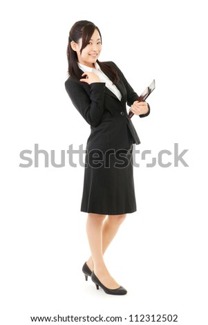 Beautiful business woman. Portrait of asian. - stock photo