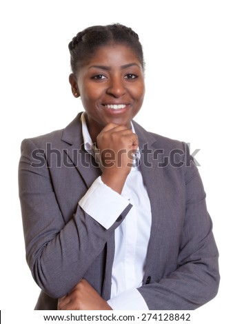 Beautiful businesswoman from Africa - stock photo