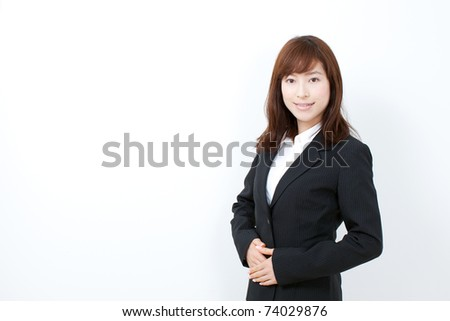 Beautiful businesswoman isolated on white. - stock photo