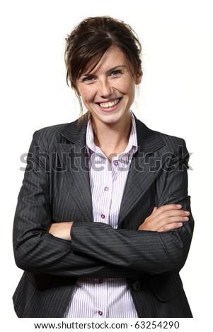beautiful businesswoman portrait - stock photo