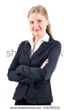 Beautiful businesswomen looking at camera,Portrait of businesswomen - stock photo