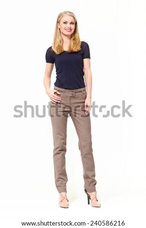 Beautiful Busyness Woman  Fashion Model - stock photo