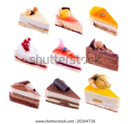 beautiful cake. on white isolated - stock photo