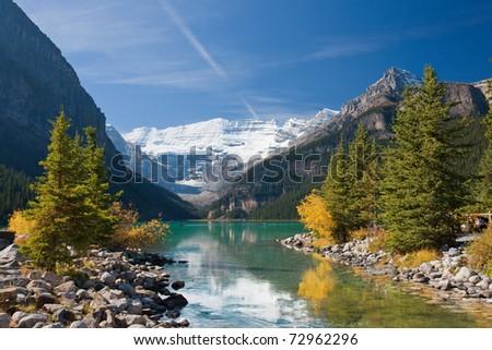 Beautiful Canadian Rockies, Alberta, Canada - stock photo
