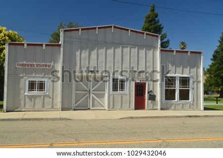Beautiful Car Mechanical Workshop In The Wild West Style In Los Alamos. Travel Holidays Architecture July 03, 2017. Los Alamos. California. EEUU. USA.