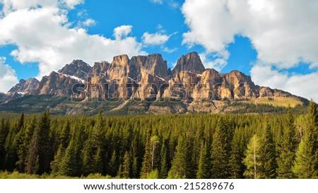 Beautiful Castle Mountain, Canada - stock photo
