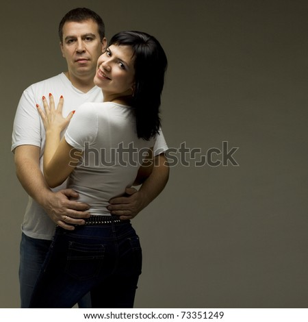 Beautiful casual couple - man and woman
